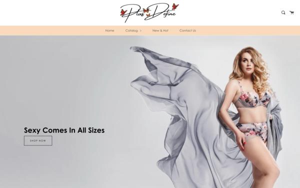 PlusDefine.com - PlusDefine.com|NO RESERVE|Premium PLUS SIZE Lingerie Store|$1,362  Domain Value