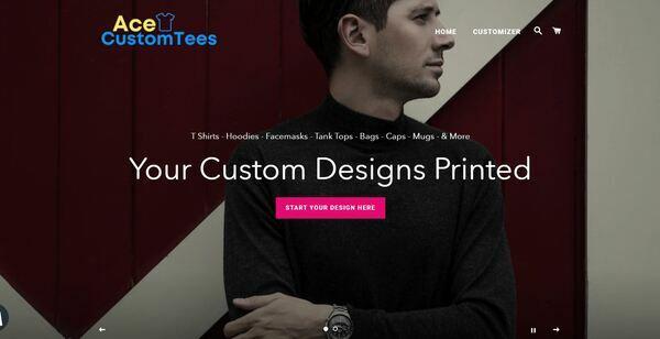 AceCustomTees.com - Shopify Dropship On Demand Print Store, Premium Domain wth $967, US/EU suppliers