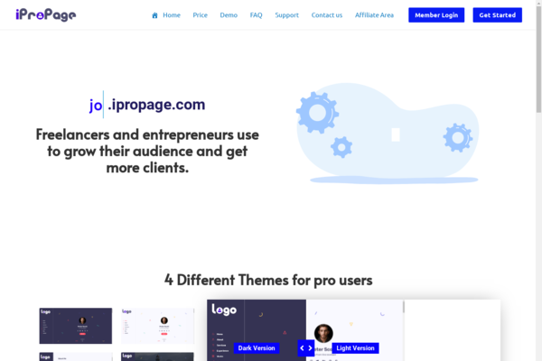 iProPage.com - Start your own Business - E-Resume SaaS earn recurring revenue