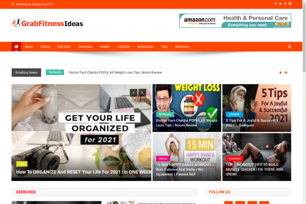 GrabFitnessIdeas.com - 100% Automated Fitness Site - Great Profitable - Earn From Ads - No Experience Needed - Huge Buy It Now Bonuses