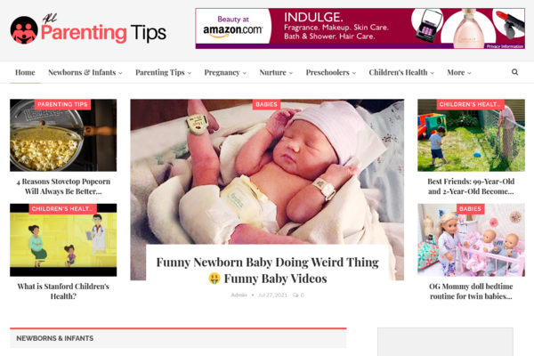 AllParentingTips.com - Fully Automated Parenting Blog + Free Hosting (Bonus) -Earn Upto $5k/Month