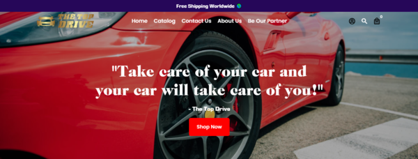 thetopdrive.com - The Top Drive is profitable and a branded niche dropshipping Shopify Store.