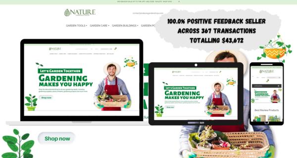 NatureGardenShop.com - GARDENING SUPPLIES Dropship STORE. HIGH PROFIT MARGIN. USA &International Market