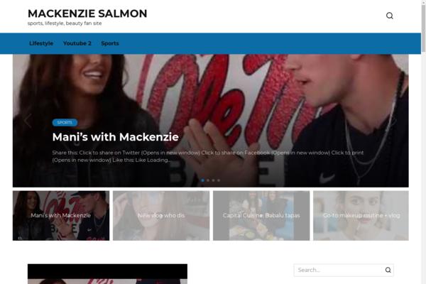 mackenziesalmon.com - A very old sports blog with USA traffic
