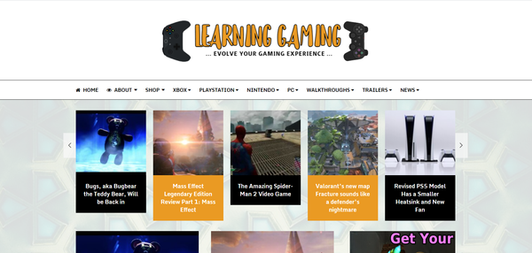 LearningGaming.com - HIGH Converting Gaming Blog - 100% Fully Automated - Ready To Start Earning NOW!
