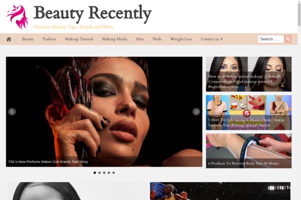 BeautyRecently.com - Premium Design BEAUTY News & Tutorial Site, 100% Automated, Amazon,CB Ad Income