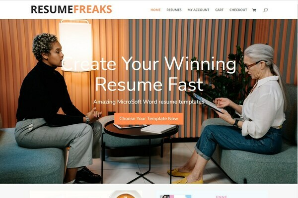 ResumeFreaks.com - 100% Automated Premium CV/Resume/Cover Letter Template Site - Business in a Box