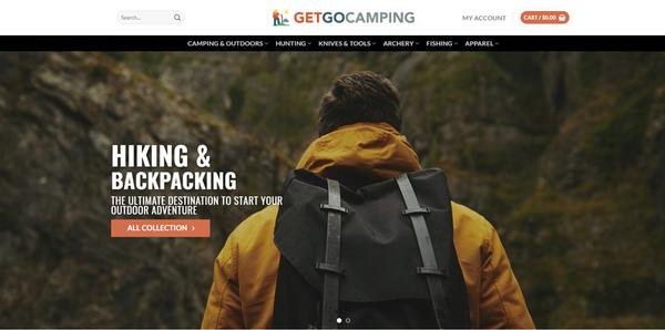 GetGoCamping.com - GETGOCAMPING.COM Professional Camping store 3,300+ inventory USA Supplier