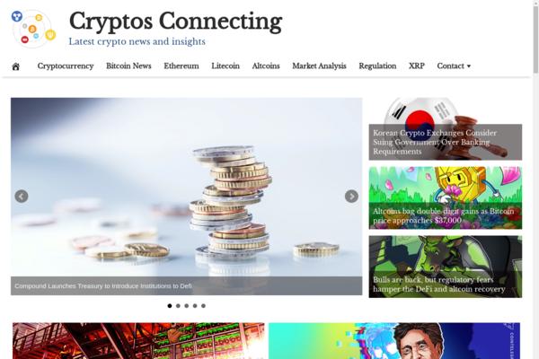 CryptosConnecting.com - 100% Automated, Premium Design, Hot Niche CRYPTOCURRENCY Site, Amazon,CB