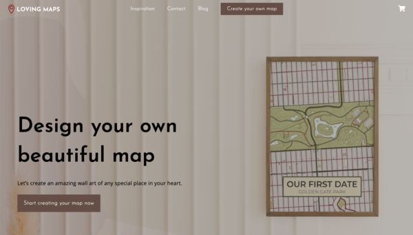 LovingMaps.com - Personalized Gift Giving Business | Popular Product | Great looking designs