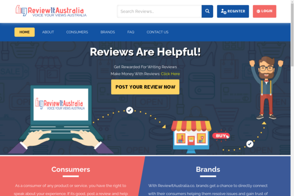ReviewItAustralia.co - Premium Review Portal For Australian Consumers - Earn With Ads, List & Reviews