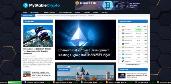 MyStableCrypto.com - Autopilot Crypto Bitcoin News Magazine Blog To Make Money Online