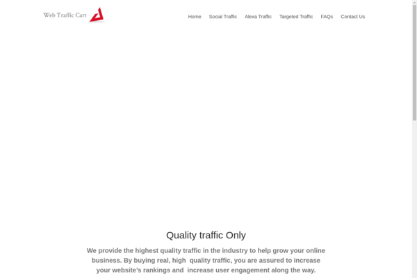 WebTrafficCart.Com - ***Start Your Own Web Traffic Reseller Business Website - Keyword Rich Domain***
