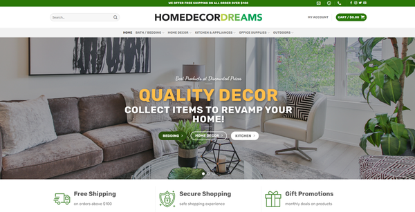 HomeDecorDreams.com - HOMEDECORDREAMS.COM Professional Home Decor store 3,500+ inventory USA Supplier