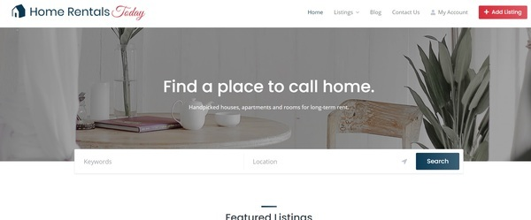 homerentalstoday.com - Start your own Real Estate Directory Site! Premium Domain Name!
