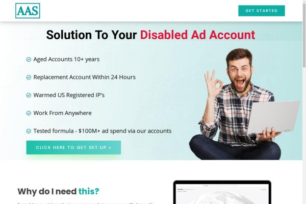 adsaccountsolution.com - adsaccountsolution.com provides Facebook Ad Account Solution.