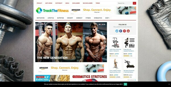 TrackTheFitness.com - Automated Amazon Niche Fitness Blog To Make Money Online, Earn Up To $5k/mo