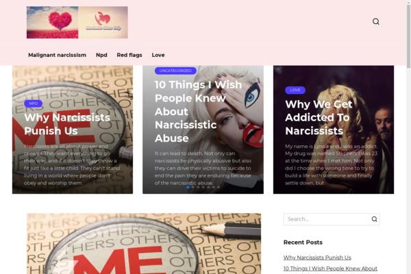 narcissistabusehelp.com - Medicine, psychology. Blog on WordPress, made in 2018. US organic traffic.