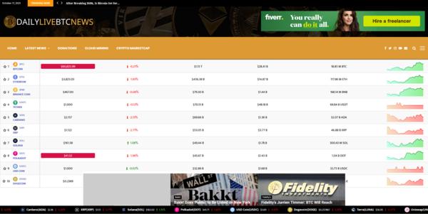 DailyLiveBTCNews.com - Fully AUTOPILOT Crypto Marketcap/News Platform (Earn up to $5k/mo)