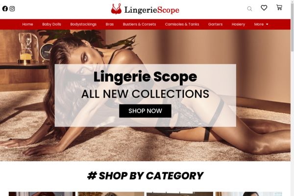LingerieScope.com - Profitable Lingerie Affiliate & Dropship eCommerce STORE, Earn Up To $10k/Month