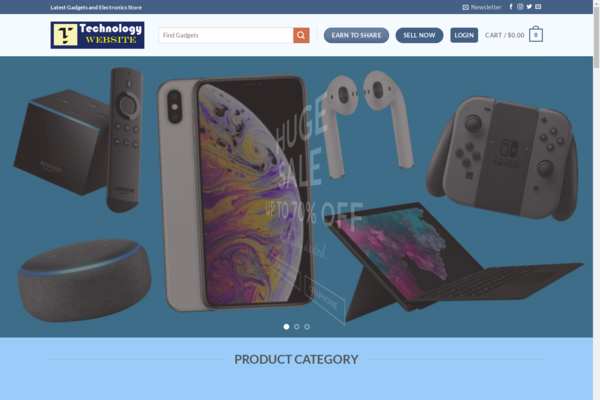 TECHnologyWEBsite.us - 3,108.81 Total Sold item,14,000+ Product Ready Marketplace 10 K Ready