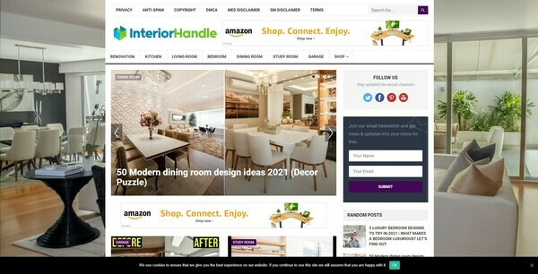 InteriorHandle.com - 100% Autopilot & Automated Interior Niche Site To Make Money Online From Amazon Ads, Affiliate Links - 200 Amazon Products Preloaded