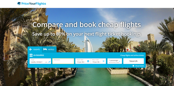 PriceYourFlights.com - Automated Travel Site, Potential to Earn Up To $5k/Month Income