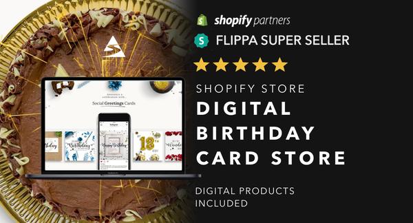 HappyBirthdaysCards.com - Password:1234 | Birthday / Greetings Card Niche Shopify Store