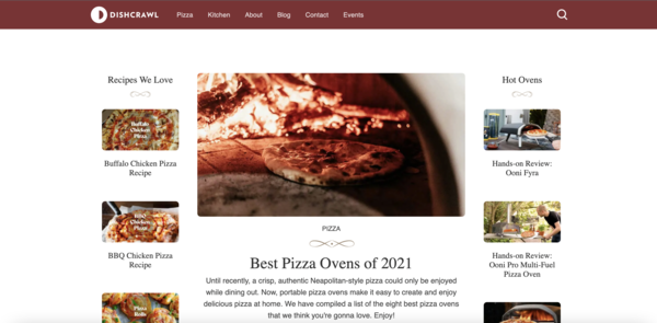 Dishcrawl - A kitchen site that revolves around pizza. Can be expanded to include the whole kitchen niche, thus opening up big opportunities to increase earnings.