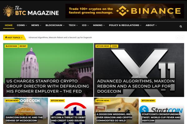 TheBTCmagazine.com - Fully Automated Cryptocurrency Site + Free Hosting (Bonus) - Earn Upto $5k/Month
