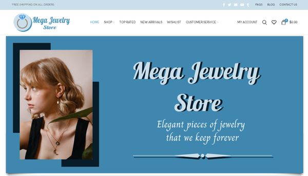 MEGA JEWELRY STORE - Automated Store, SEO Backlinks $4,500/Mo Potential, 19-years Domain, Google Indexed - NO RESERVE!