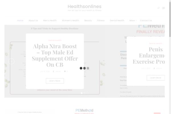 healthsonlines.com - Make Money Amazon  affiliate eBook Sale website