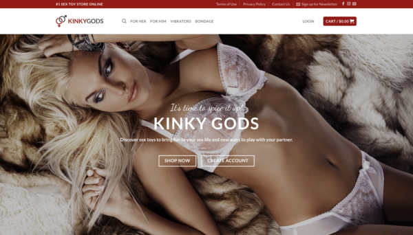 KinkyGods.com - Beginner friendly website. Drop ship store with no need of holding inventory.