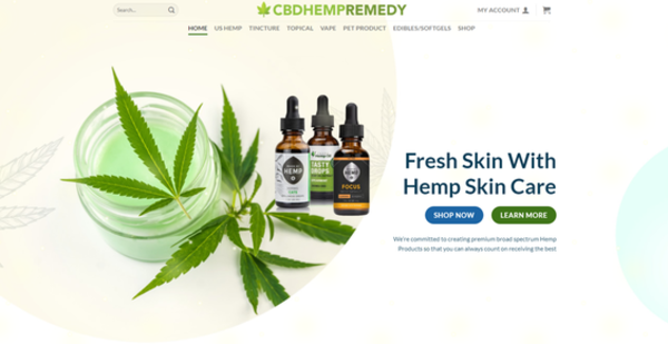 CBDHempRemedy.com - CBDHEMPREMEDY.COM - CBDHemp READY-TO-GO! Store 100+ Inventory