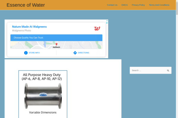 essenceofwater.org - Blog about health and water. Passive income Adsense. Website on wordpress.