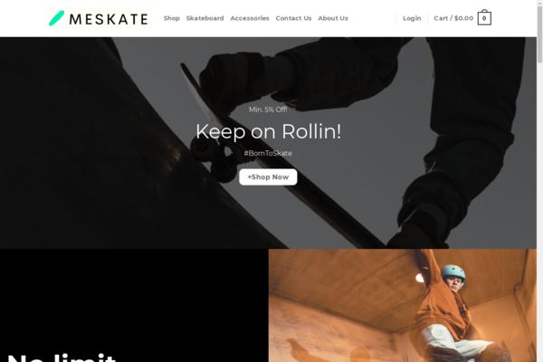 MeSkate.com - MeSkate.com automated Skateboard dropshiping store worth+$1400-Noreserve