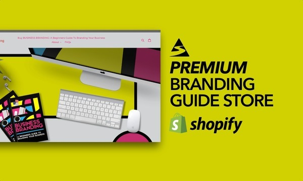 MyBusinessBranding.com - Ecommerce Shopify Starter Store For Sale Specialising in the Branding Niches