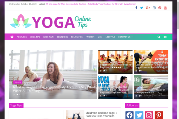 YogaTipsOnline.com - Yoga tips - Hot niche - 100% Automated - 1 Year Free Hosting Or 1 Extra Site for BIN + Great Bonuses - Amazon & Clickbank Income.