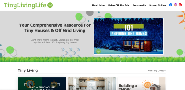 tinylivinglife.com - Advertising / Home and Garden