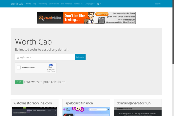 worthcab.com - Website Asset Value Estimator & Sales Marketplace. Passive Revenue on autopilot.