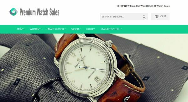PremiumWatchSales.com - High-Profit Luxury Watch Store with Striking Design and Valuable Domain