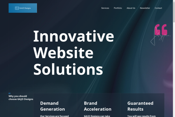 gajodesigns.com - GAJO Designs Website. Comes with a Traction-Gaining Landing Page