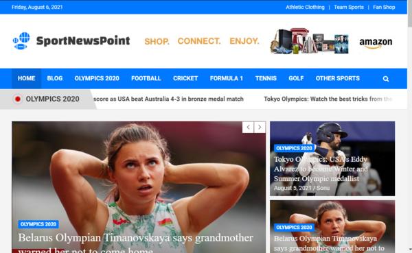 sportnewspoint.com - Fully Automatic Sports News Blog Website. Estimated Value: $1281 (USD) .