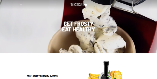 myicefruit.com - Fruit Ice Cream Maker   Branded Automated One Product Store