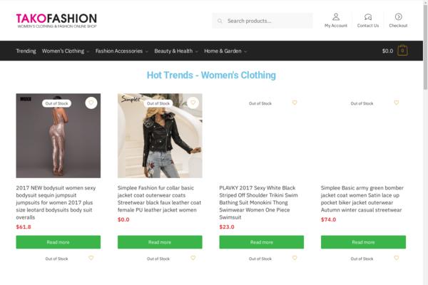 takofashion.com - Women's fashion online shop - 2 years old, money making website