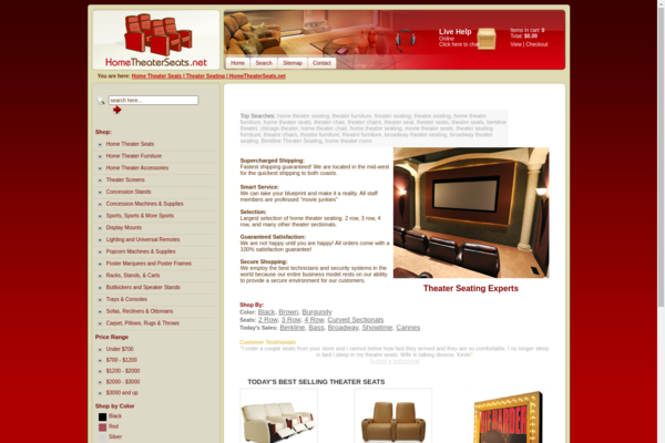 HomeTheaterSeats.net - Proven successful business model that has made thousands in cash flow