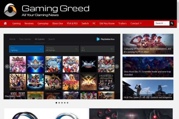 GamingGreed.com - Fully Automated Gaming News Website. Get 5 Automated Websites worth over $900