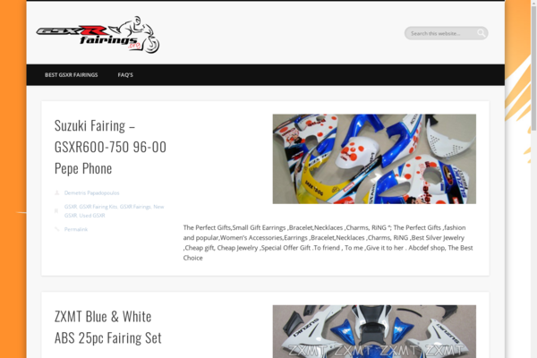 GSXRfairings.org - Established Motorcycle Resource that is over 5+ Years old! Make Money From Ads