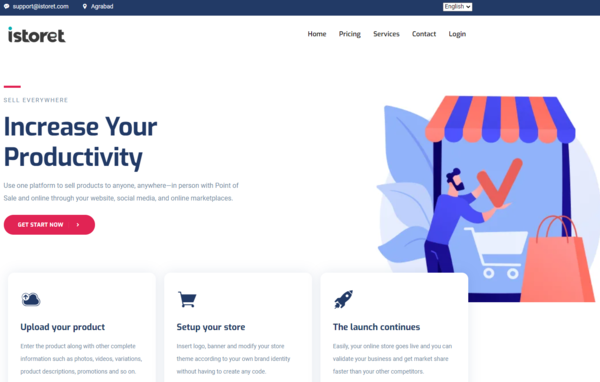 istoret.com - eCommerce platform similar to Shopify SaaS business customers can create store