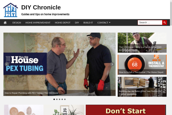 DIYChronicle.com - Fully Automated Home Improvement Site - 1 Year Free Hosting BIN + Great Bonuses